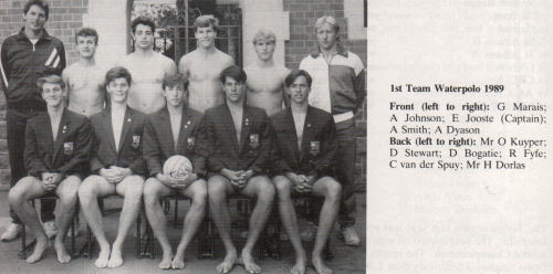 First Team Water Polo - The Pretorian 1989