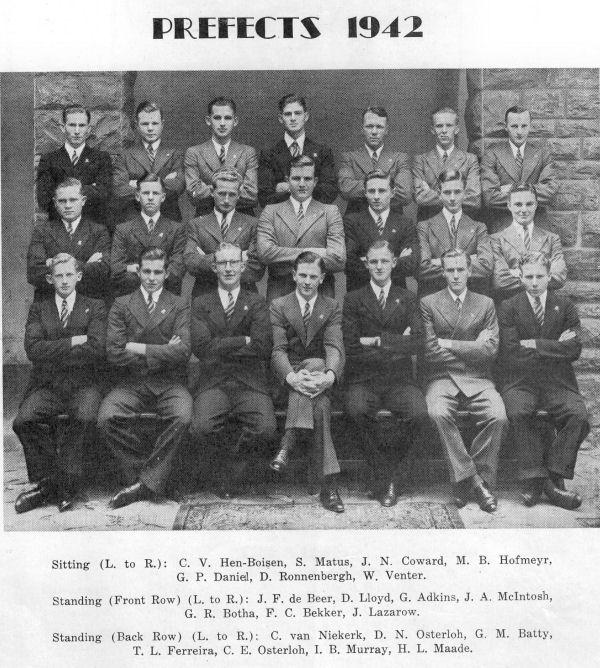 Murray Hofmeyr - Prefects